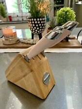 Rare KitchenAid Pink Cook For The Cure Cutlery 4 Piece Knife Set With Block