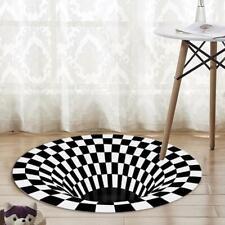 3D Printed Round Vortex Illusion Anti-slip Living room Rug Carpet Floor Door Mat