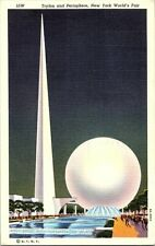 Trylon and Perisphere New York World's Fair Vintage Postcard Standard View Card