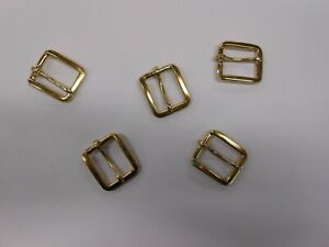25 x Small Shiny Gilt Belt Buckles, 13706. 20mm Wide. Ideal for Belt Making etc