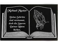 Grabschmuck Grabbeigabe Grabstein Gedenkstein Baum-001 ♥TEXT GRAVUR♥ 50 x 30 cm