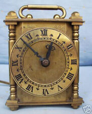 RARE ANTIQUE SOLID BRASS SMITHS ORNATE ELECTRIC CARRIAGE CLOCK (hb276)