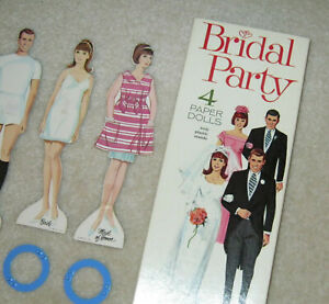 Whitman BRIDAL PARTY Magic Dolls with Stay-on Clothes 1968