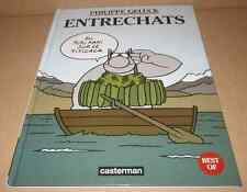 Bd Le chat ENTRECHATS Philippe Geluck Casterman grand format (23 x 30 cm)