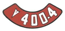 Pontiac 400-4V Air Cleaner Decal, Red & White on Silver