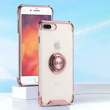 Clear Case For iPhone SE2 XS Max XR X 7 8 Plus Ring Kickstand Shockproof Cover