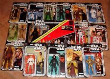 "STAR WARS BLACK 40th ANNIVERSARY ALL 13 6"" ACTION FIGURE WAVE 1 & 2 COMPLETE SET"