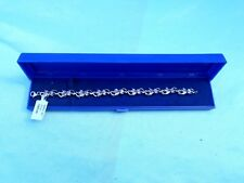 "BNIB 54 STONE STERLING SILVER 7"" (18cm) 3ct TANZANITE BRACELET WITH CERTIFICATE"