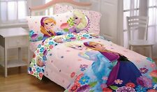 Kids Children Girl Toddler Disney Frozen Full Sheet 4 Piece Bed Set Microfiber