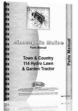 Minneapolis Moline 114 Lawn Tractor Parts Manual Catalog Town Amp Country