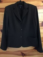 Ann Taylor Petite Women's EUC Dark Gray Blazer Jacket Size SP