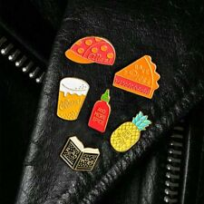 Enamel Brooch Book Pineapple Spice Bottle Book Pins Badges Funny Jewelry Gifts