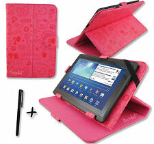 Cute Pink PU Leather Case Stand for ARCHOS 101 Cobalt 10.1'' inch Tablet PC