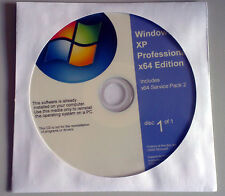 Windows xp professionnel édition x64 récupération 64bit réparation installer installation disc cd