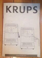 Krups Novo 3000 FNC2 & 3000 Premium FNC3 Espresso Maker Betriebsanleitung Einsatz & Pflege