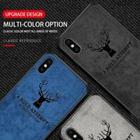 Cloth Deer Elk Shockproof Silicone Phone Cover Case Shell For iPhone 6/6S 7/8 XR