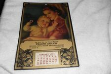 1945 Advertising Calendar Williams Grocery Monett, MO Very nice Mother and child
