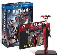 Batman and Harley Quinn Digital Blu-ray dvd BEST BUY figurine and book!