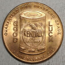 Good Luck Token, Kendall Motor Oil, Gemmy Token      L040
