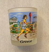 Cup Small Hand Made in Greece Glass Nice Piece  Decor Home Art