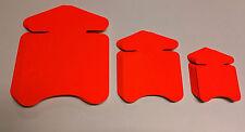 60 Pfeile in 3 Größen Neon rote Preisschild aus Karton Werbung deko Schaufenster