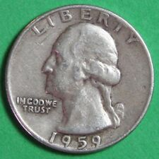 1959  US   Silver  Washington  Quarter   ...Circulated...