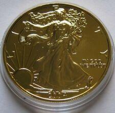 2004 PURE 24K GOLD GILDED AMERICAN SILVER EAGLE ~1 Oz .999 Fine Silver~