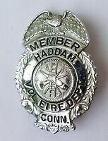 Vintage Haddam CT Volunteer Fire Department Badge Connecticut