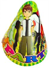 BEN 10 ALIEN FORCE BIRTHDAY PARTY HATS PARTY FAVOURS PARTY SUPPLIES - PACK OF 8