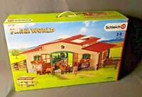 Schleich Farm World Stable with Horses Farm Barn Play Set #42195