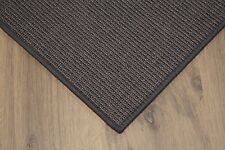 sisal TAPPETO ANTRACITE 200x300cm 100% Agave anelloin Loop
