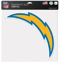"""NFL Los Angeles Chargers Wincraft 8""""x 8"""" Color Peel-Off Decal NEW!"""