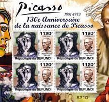 PABLO PICASSO Artist & Painter / Abstract Art Stamp Sheet #3 of 5 (2011 Burundi)