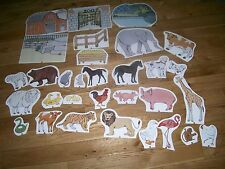 JUDY INSTRUCTO CARDBOARD ANIMAL FARM ZOO FIGURES PAPER DOLL STAND UPS