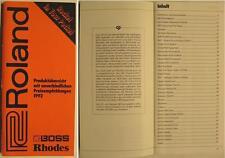 ROLAND BOSS RHODES KATALOG VON 1992 - PRODUKTÜBERSICHT MIT PREISEN