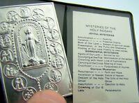 Mysteries of the Rosary Joyful Sorrowful & Glorious Pray Folder For Car Visor