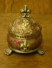 Welforth Trinket Box #J758 FLEUR DE LI Box, NEW from Retail Store MIB