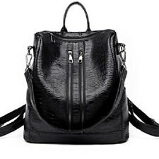 Women Handbag Backpack , Faux Leather Girls School Shoulder Bag, Rucksack Black