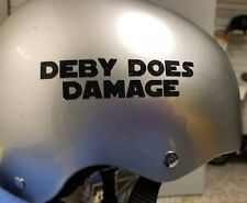 Helmet Decal Stickers Customised for Roller Derby & More