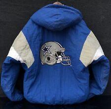 Starter Pro Line Vtg NFL Dallas Cowboys Puffer Coat Jacket Men's Medium w Hood