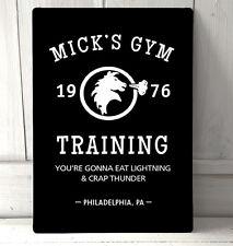 Mick's Gym ROCKY BALBOA FILM CITAZIONE ispirato SEGNO A4 METAL PLACCA