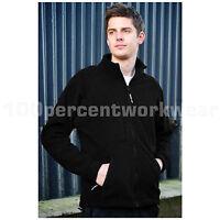Warrior BALTIMORE Mens Heavyweight Polyester Full Zip Fleece Jacket Work Coat