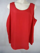 Faded Glory Women Plus Woven Tank 100% Polyester - Size 4X (26W-28W) - Color Red