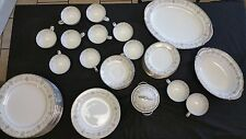 Noritake China Set for 12 Edgewood Pattern, 12 piece setting, 9 coffee cups