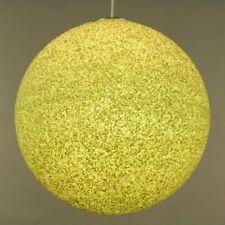 Mega Granulat Pendel Leuchte Ø 43 cm Kugel Hänge Lampe Vintage 70er Jahre