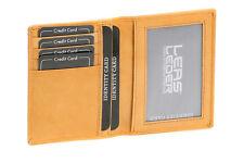 Ausweis- und Kreditkartenhülle LEAS in Echt-Leder, beige