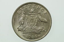 1946 Sixpence Die Crack George VI in Uncirculated Condition