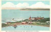 Airview 1920s Hotel Del Coronado Point Loma California Carpenter Postcard 13409