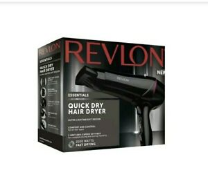Revlon 2100w Quick Dry Hair Dryer Ultra Lightweight Comfort 3 Heat Setting Cool