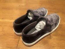 Steve Madden Grey Velvet Shoe Size 7.5 w/ Box